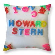 Howard Stern - Magnetic Letters Throw Pillow