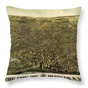 Howards Map Of Buffalo New York 1880 Throw Pillow