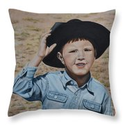 Howdy Ma'am Throw Pillow