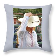 Howdy Throw Pillow