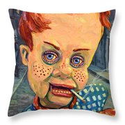 Howdy Von Doody Throw Pillow