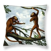 Howling Monkey Throw Pillow