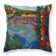 Howry Creek Campsite Throw Pillow
