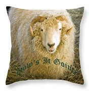 Hows It Going Old English Hunter Green Throw Pillow
