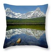 1m3643-howse Peak, Mt. Chephren Reflect Throw Pillow