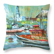 Howth Harbour 01 Throw Pillow
