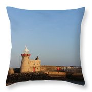 Howth Lighthouse  Throw Pillow