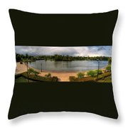 Hoyt Lake At Delaware Park Throw Pillow