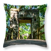Hoyt Park Bridge Throw Pillow