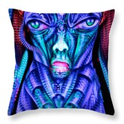 H.r. Giger Inspired D Throw Pillow
