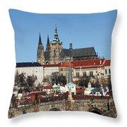 Hradcany - Prague Castle Throw Pillow by Michal Boubin