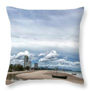 Hua Hin Coastline Throw Pillow