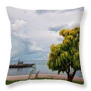 Hua Hin Harbour Throw Pillow
