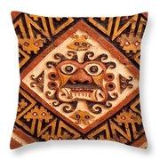 Huaca De La Luna Throw Pillow by James Brunker