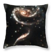 Hubble - Rose Made Of Galaxies Throw Pillow