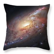 Hubble View Of M 106 Throw Pillow by Adam Romanowicz