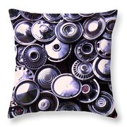Hubcaps Throw Pillow