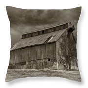 Huber Ferry Barn Osage County Mo Dsc00720 Throw Pillow