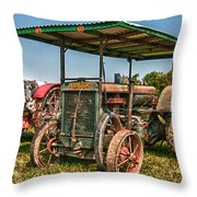 Huber Tractor Throw Pillow