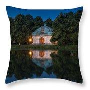Hubertusbrunnen Throw Pillow by John Wadleigh