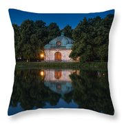 Hubertusbrunnen Throw Pillow
