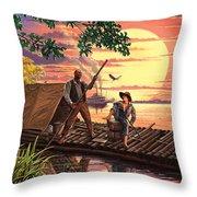 Huck Finn Variant 1 Throw Pillow