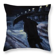 Huddling Through The Storm Throw Pillow