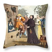 Hudibras And Ralpho In The Stocks Throw Pillow