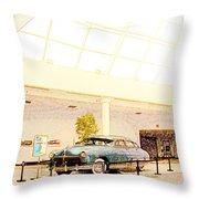 Hudson Car Under Skylight Throw Pillow