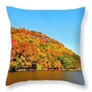 Hudson River Fall Foliage Throw Pillow