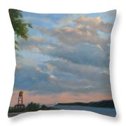 Hudson River Skyscape  Throw Pillow