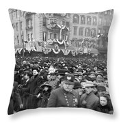 Hudson River Tunnel, 1908 Throw Pillow