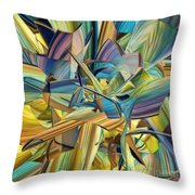Hues And The Blues Throw Pillow