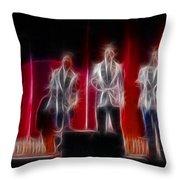 Huey Lewis-ga11a-fractal Throw Pillow