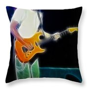 Huey Lewis-chris-gd0a-fractal Throw Pillow