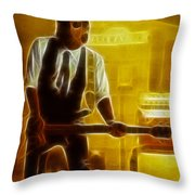 Huey Lewis-mario-gd19a-fractal Throw Pillow