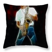 Huey Lewis--johnny-ge2a-fractal Throw Pillow