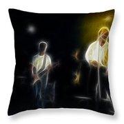 Huey Lewis-ge7-fractal Throw Pillow