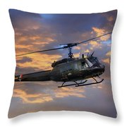 Huey - Vietnam Workhorse Throw Pillow