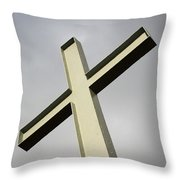 Huge Cross  Throw Pillow