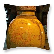 Huge Marble Jar Cut From One Piece Of Marble In Saint Sophia's I Throw Pillow
