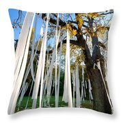 Huge Tree Covered In Toilet Paper Throw Pillow
