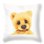 Huggable Teddy Bear Throw Pillow