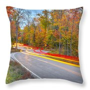 Hugging The Curves Throw Pillow by Adam Romanowicz