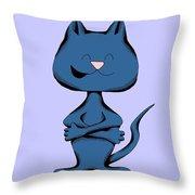 Huggle Cat Laughing Throw Pillow