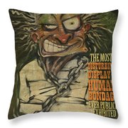 Hugh Dini Poster Throw Pillow