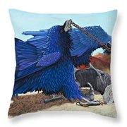 Huginn And Muninn Throw Pillow