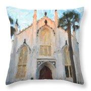 Huguenot Church Throw Pillow
