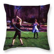 Hula Digital Art By Cathy Anderson Throw Pillow