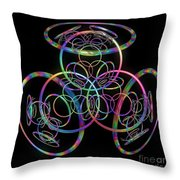 Hula Hoops Throw Pillow